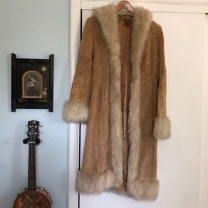 Arden B Leather & Faux Fur Jacket